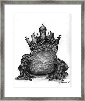 The Frog Prince Framed Print by J Ferwerda