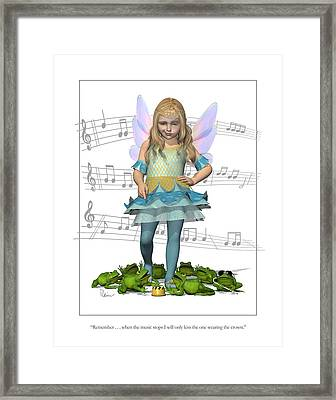 The Frog Princess Framed Print