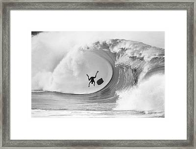 The Frogman Framed Print by Sean Davey