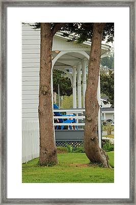 Framed Print featuring the photograph The Front Porch by E Faithe Lester