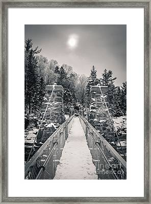 Framed Print featuring the photograph The Frost Across by Mark David Zahn Photography