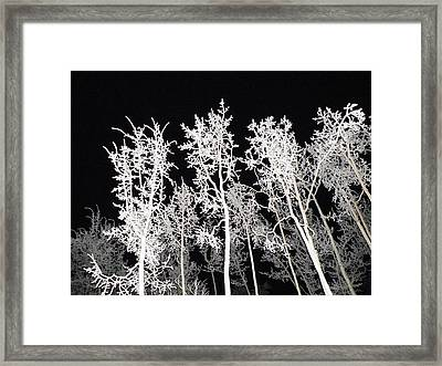 Framed Print featuring the photograph The Frost Gleams By Night by Brian Boyle