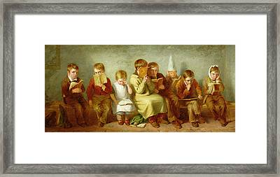 The Frown, 1842 Oil On Panel Pair Of 6131 Framed Print by Thomas Webster