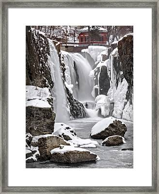 The Frozen Falls Framed Print by Eduard Moldoveanu