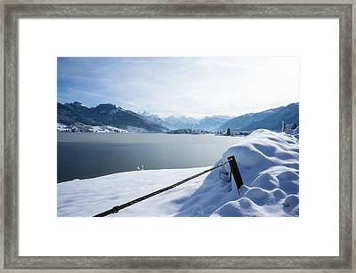 The Frozen Lake Framed Print by Arylana Art