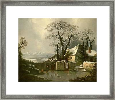 The Frozen Mill Race Framed Print