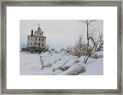 The Frozen Sentinel Framed Print by Frederic Vigne
