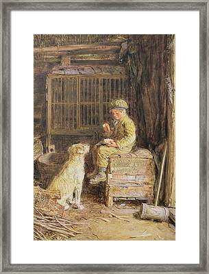 The Frugal Meal Framed Print by William Henry Hunt