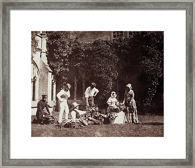 The Fruit Sellers Framed Print by British Library
