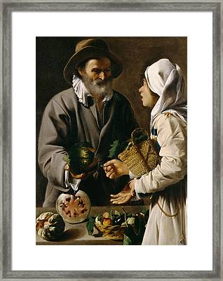 The Fruit Vendor Framed Print by Pensionante de Saraceni