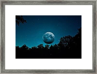The Full Harvest Moon Framed Print by Brandon Lacrosse