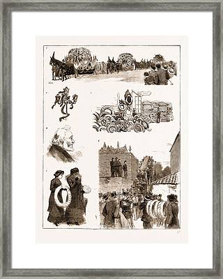 The Funeral Of M. Gambetta At Nice, France Framed Print