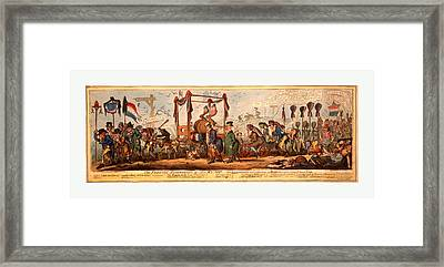 The Funeral Procession Of The Rump, Cruikshank Framed Print by English School