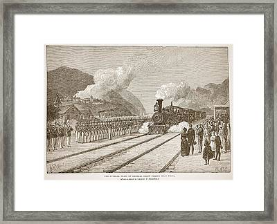 The Funeral Train Of General Grant Framed Print by Alfred R. Waud