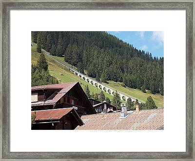 The Funicular In Murren Framed Print