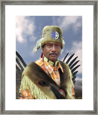 The Fur Turban Framed Print by Spyder Webb