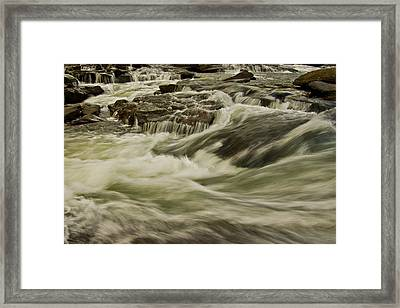 The Furry Of The River..... Framed Print