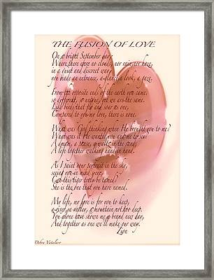 The Fusion Of Love  Framed Print by Debra     Vatalaro