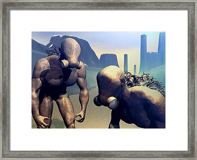 Framed Print featuring the digital art The Future Ancients by John Alexander