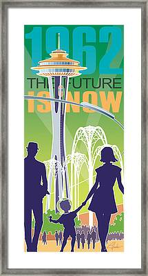 The Future Is Now - Green Framed Print