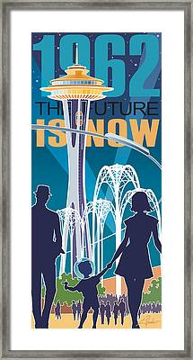 The Future Is Now - Night Time Framed Print