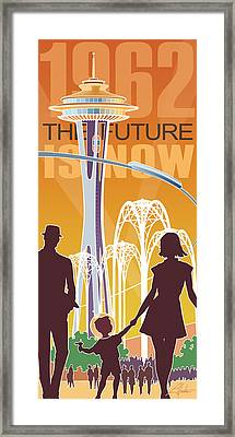 The Future Is Now - Orange Framed Print