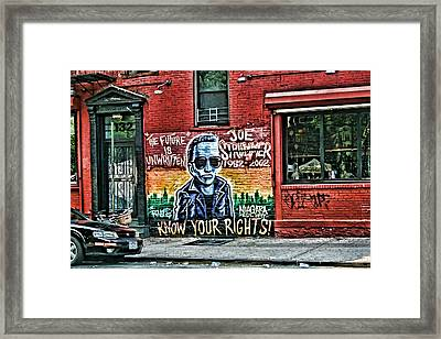 The Future Is Unwritten Framed Print