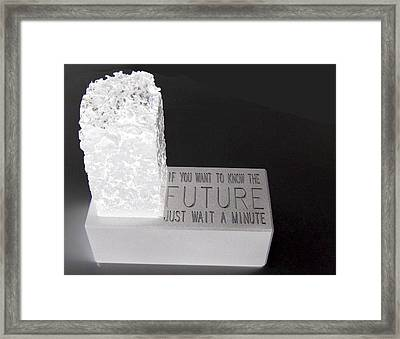 Framed Print featuring the sculpture The Future by Tony Murray