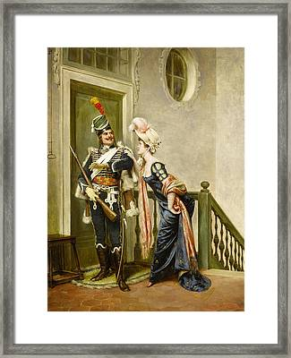 The Gallant Officer Framed Print by Frederick Soulacroix