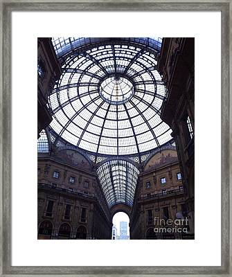 The Galleria Milan Italy Framed Print