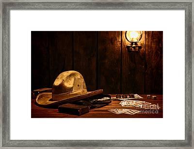 The Gambler Framed Print by Olivier Le Queinec