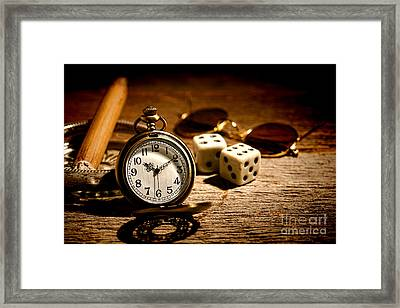 The Gambler's Watch Framed Print by Olivier Le Queinec