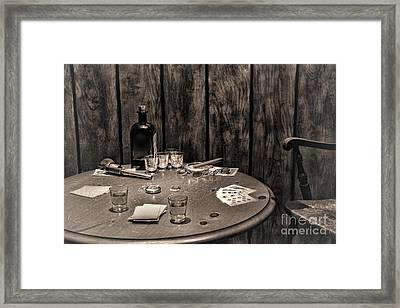 The Gambling Table Framed Print