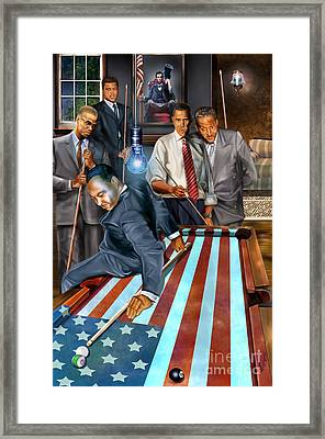 The Game Changers And Table Runners Framed Print by Reggie Duffie