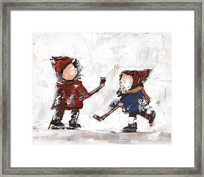 The Game Framed Print by David Dossett