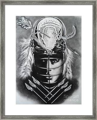 The Game Of Lacrosse  Framed Print by Carla Carson
