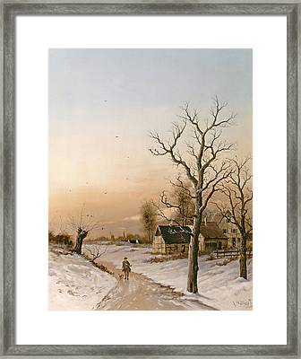 The Gamekeeper Going Home Framed Print