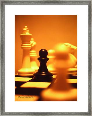 The Games We Play Framed Print by Thomas Woolworth