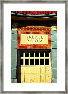 The Garage Framed Print by Chris Berry