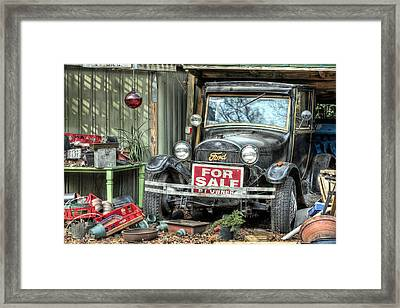 The Garage Sale Framed Print by JC Findley