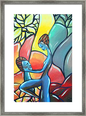 The Garden Framed Print by AC Williams
