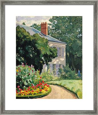 The Garden At Queue En Bri Framed Print