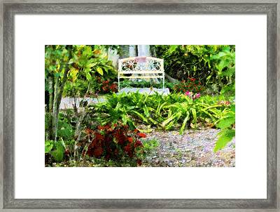 The Garden Bench Framed Print