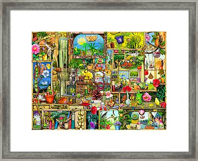 The Garden Cupboard Framed Print by Colin Thompson
