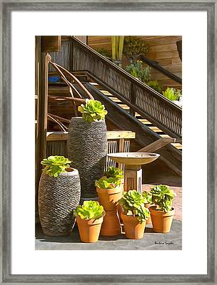 The Garden Gallery Morro Bay California Framed Print by Barbara Snyder