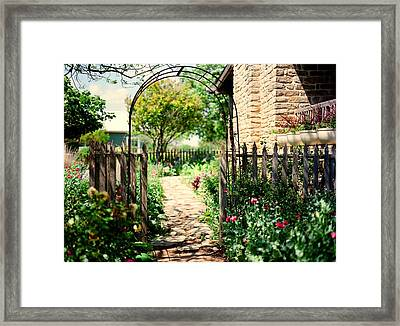 The Garden Gate Framed Print by Linda Unger