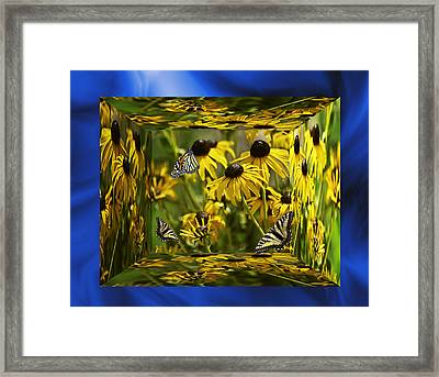 The Garden In Your Mind Framed Print by Diane Schuster