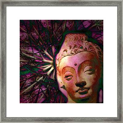 The Garden Of Buddha Framed Print by Martine Jacobs