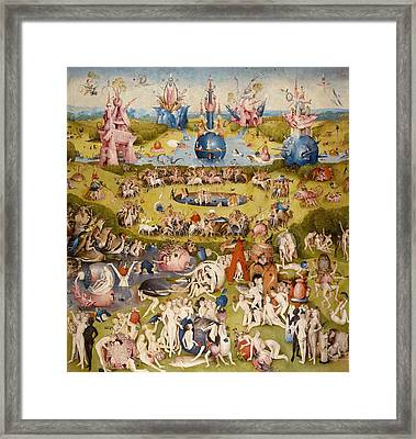 The Garden Of Earthly Delights - Central Panel Framed Print by Hieronymus Bosch