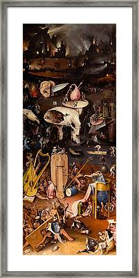 The Garden Of Earthly Delights - Right Wing Framed Print by Hieronymus Bosch
